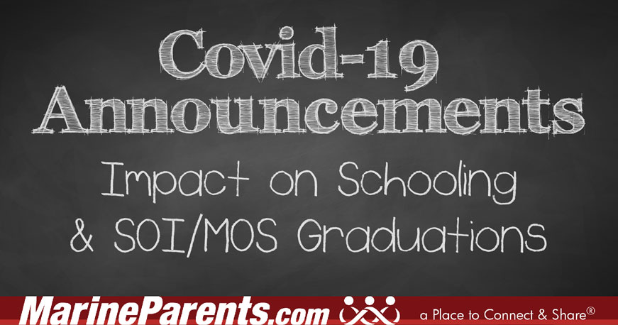 COVID-19 Impact on Schooling & SOI/MOS Graduations